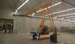 JAKSCHE TEHNOLOGY - ALEKSANDROVAC - single girder half portal cranes load capacity 2 and 5 tons for automotive industry